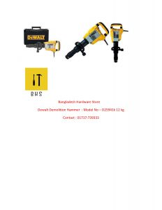 Dewalt D25941k 12 kg demolition Hammer in bd