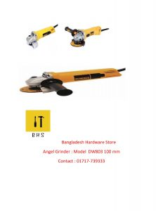 Dewalt angle Grinder supplier in bd