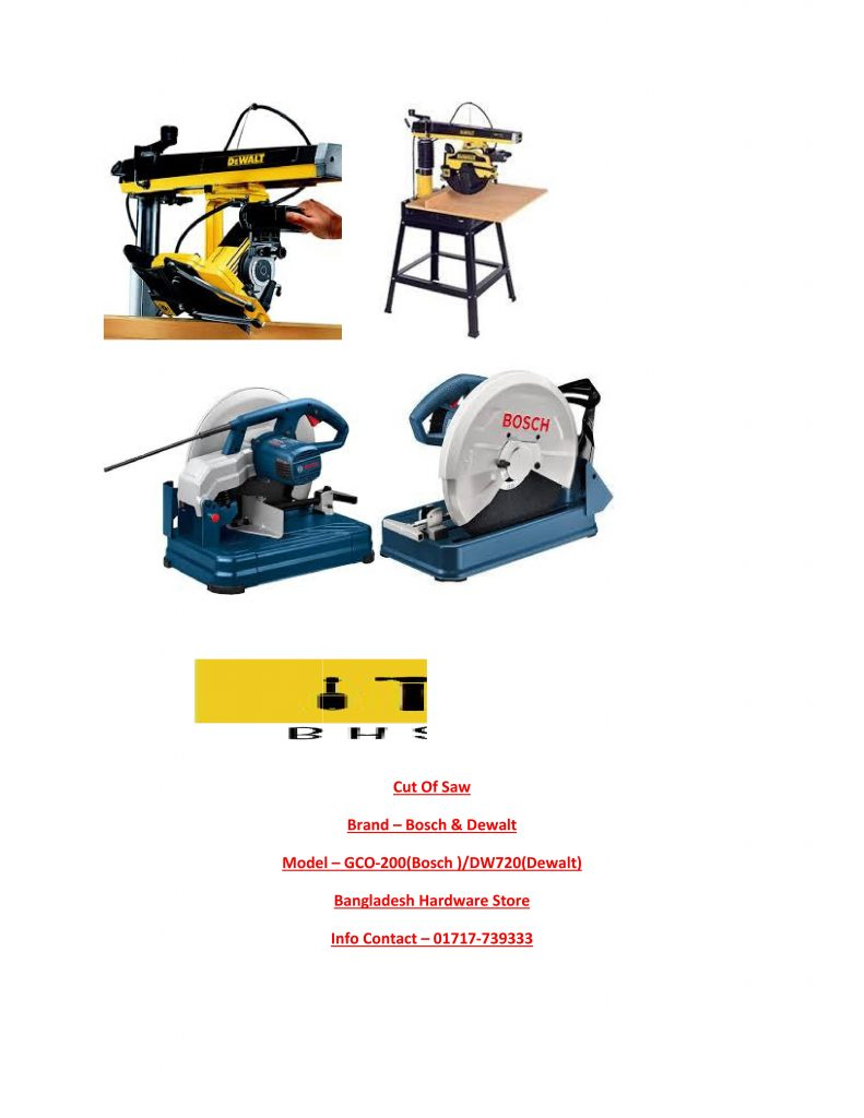 Cut OFF Saw Supplier in Bd
