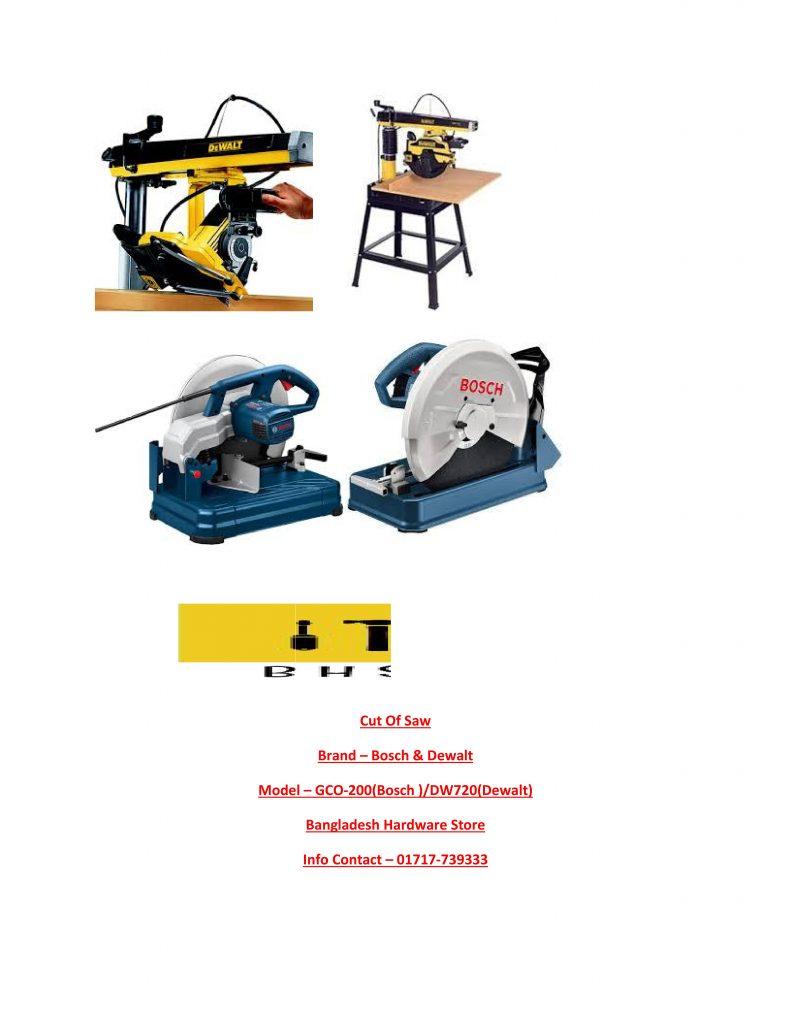 Cut OFF Saw Supplier in Bd