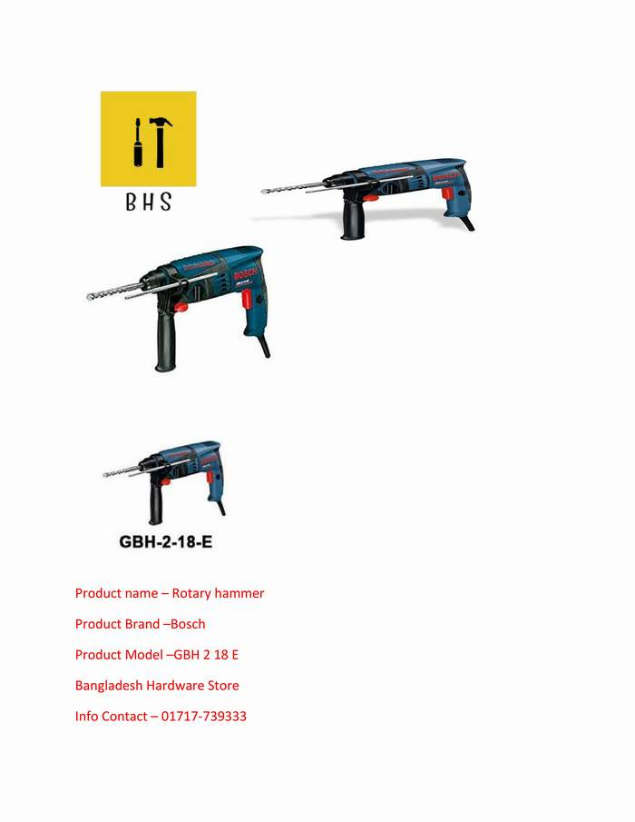 GBH 2-18 E Supplier in bd