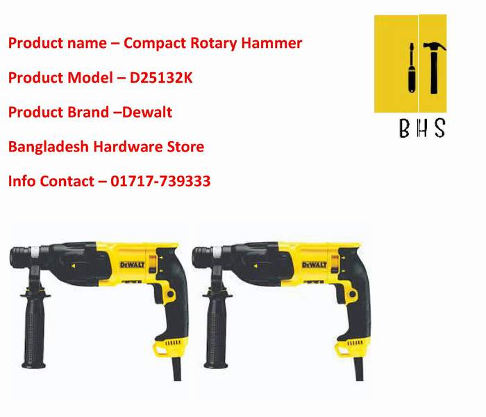 D25132k Compact Rotary Hammer Wholesaler in bd