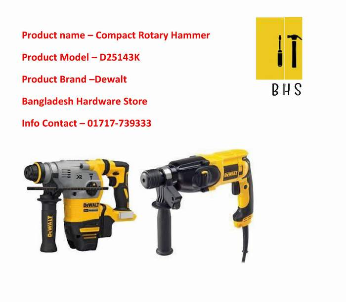 D25143k Compact Rotary Hammer Wholesaler in bd