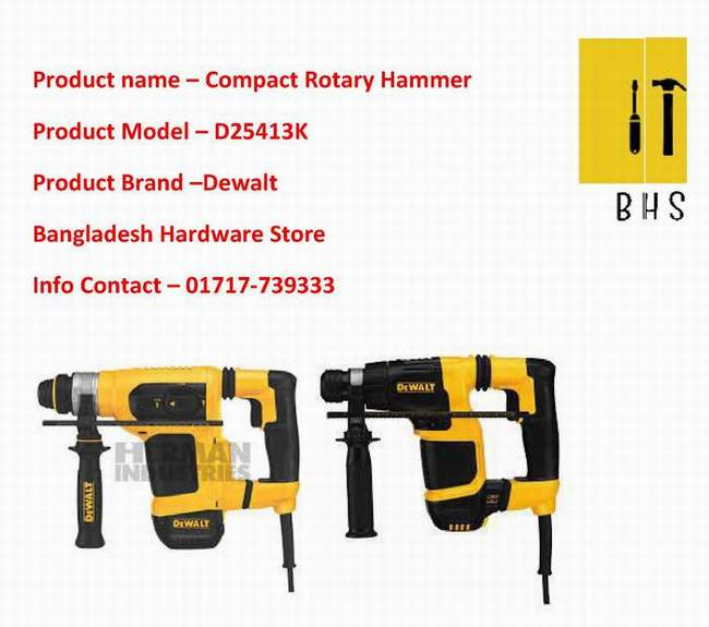 D25413k Compact Rotary Hammer dealer in bd