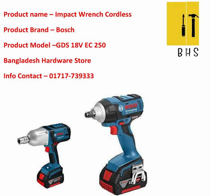 Gds 18v-Ec 250 Impact Wrench Cordless Wholesaler in bd