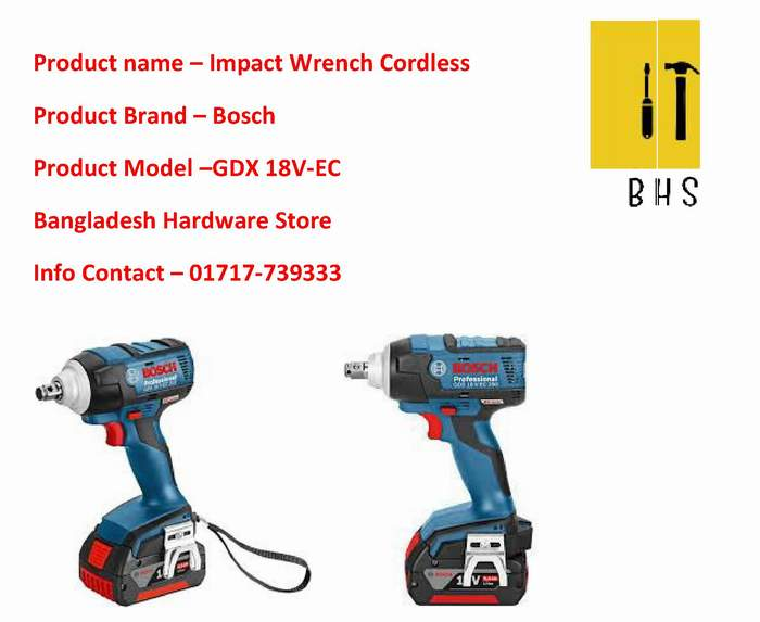 Gdx 18v-Ec Impact Wrench Cordless Dealer in bd
