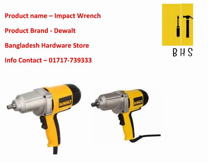 Dewalt Impact Wrench Wholesaler in bd
