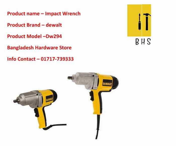 Dw294 Impact Wrench dealer in bd