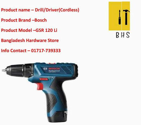 Bosch Drill/Driver Gsr 120 Li dealer in bd