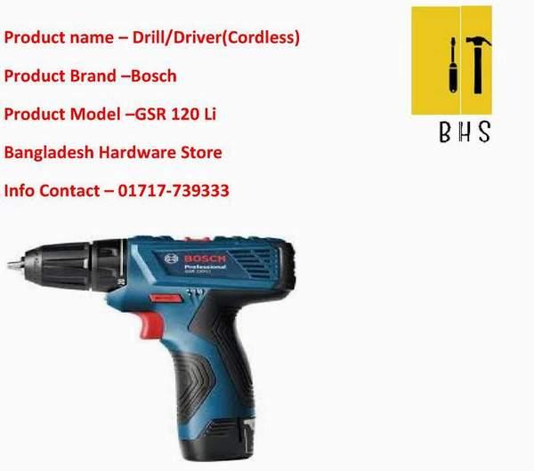 Bosch Drill/Driver Gsr 120 Li dealer in bd