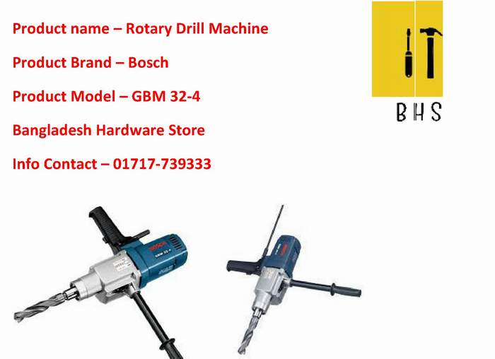 gbm 32-4 rotary drill dealer in bd