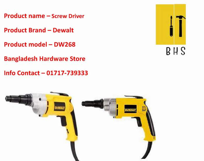 Dewalt dw268 Screw Driver Wholesaler in bd