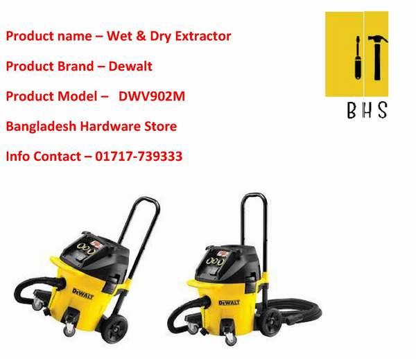 Dewalt wet and dry dust extractor dealer in bd