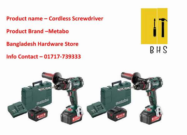 cordless screwdriver in bd