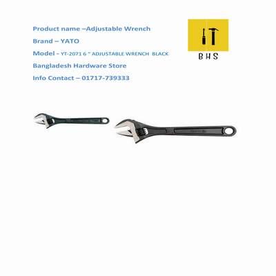 "yt-2071 6 ""adjustable wrench black in bd"