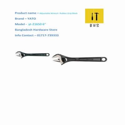 "yt-21650 6"" adjustable wrench rubber grip black in bd"