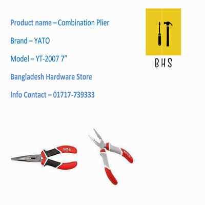 "7"" Yt-2007 Combination Plier in bd"