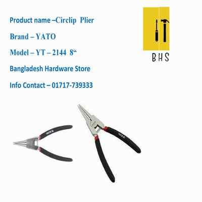 """8 """" yt-2144 circlip plier in bd"""