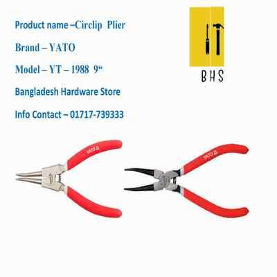 """9 """" yt-1988 circlip plier in bd"""
