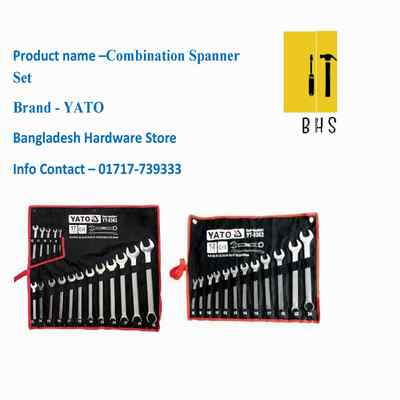 Yato combination spanner set in bd