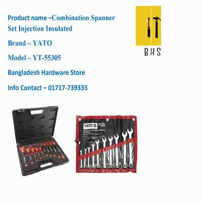 yt-55305 combination spanner set -injection insulated in bd