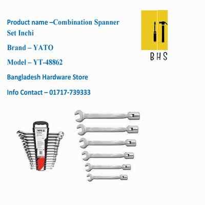 yt-48862 combination spanner set inchi in bd