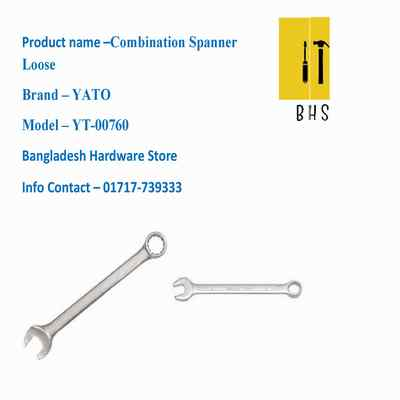 yt-00760 combination spanner loose in bd