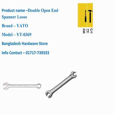 yt-0369 double open end spanner loose in bd