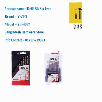yt-4007 drill bit set iron in bd
