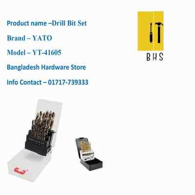 yt-41605 yato drill bit set in bd