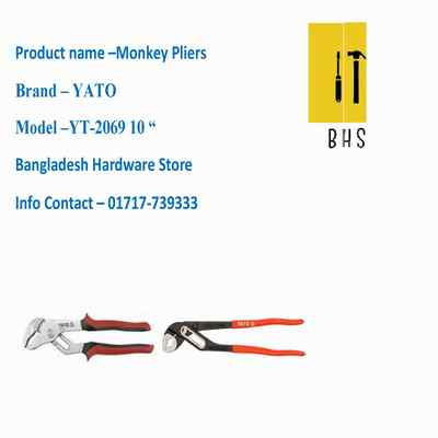 """10 """" yt-2069 monkey pliers in bd"""