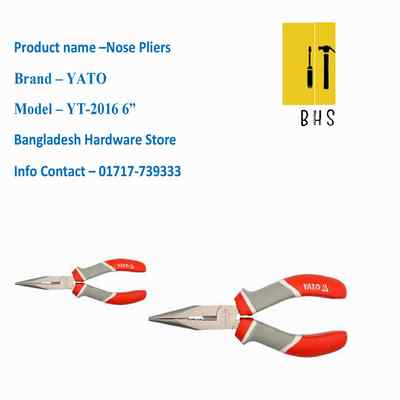 """6"""" yt-2016 nose pliers in bd"""