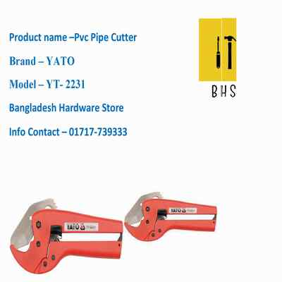 Yt-2231 Pvc Pipe Cutter in bd