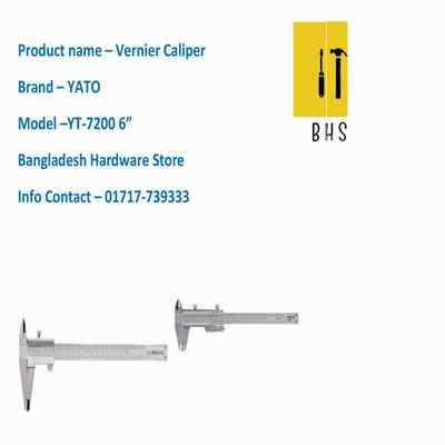 "6"" yt-7200 vernier caliper in bd"