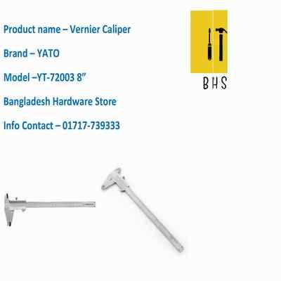 "8"" yt-72003 vernier caliper in bd"