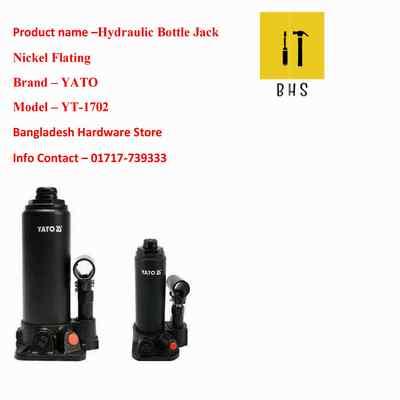 yt-1702 hydraulic bottle jack nickel flating in bd