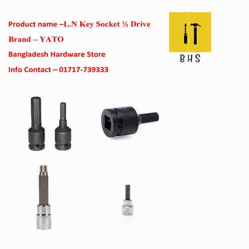 "l n key socket 1/2"" drive in bd"