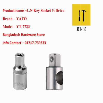"yt-7723 l n key socket 1/2"" drive in bd"