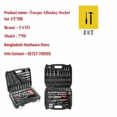 yt-7750 torque allenkey socket set 1/2 dr in bd